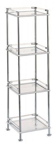 Mystic Collection Four Tier Shelf Chrome 48 D X 13 75 H