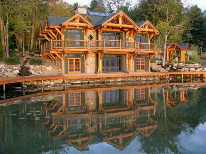 271 best My log cabin dream home images on Pinterest Wood