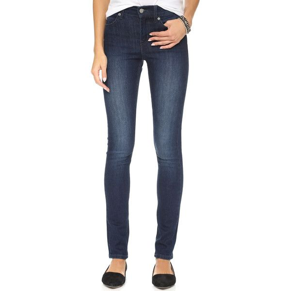 Cheap Monday The Tight Jeans (120 CAD) ❤ liked on Polyvore featuring jeans, deep indigo, zipper skinny jeans, denim skinny jeans, indigo blue jeans, print skinny jeans and skinny leg jeans