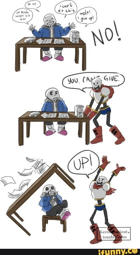 undertale, sans, papyrus, comicpart1 We all need our own ...