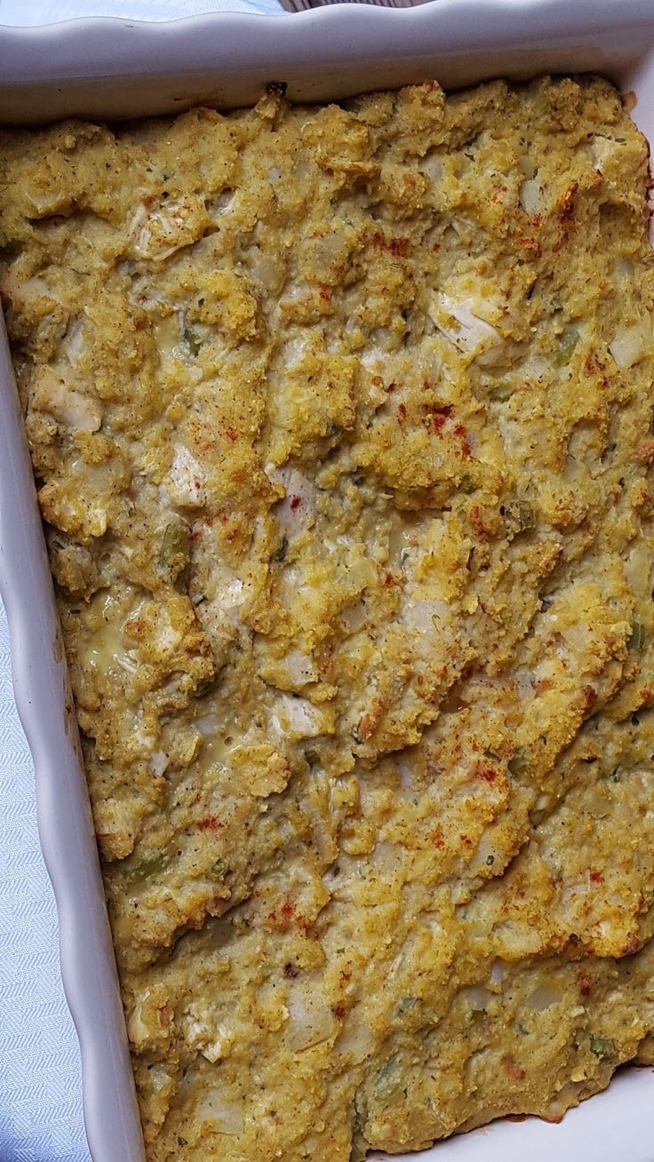 Chicken & Dressing Casserole - Southern - Julia's Simply Southern