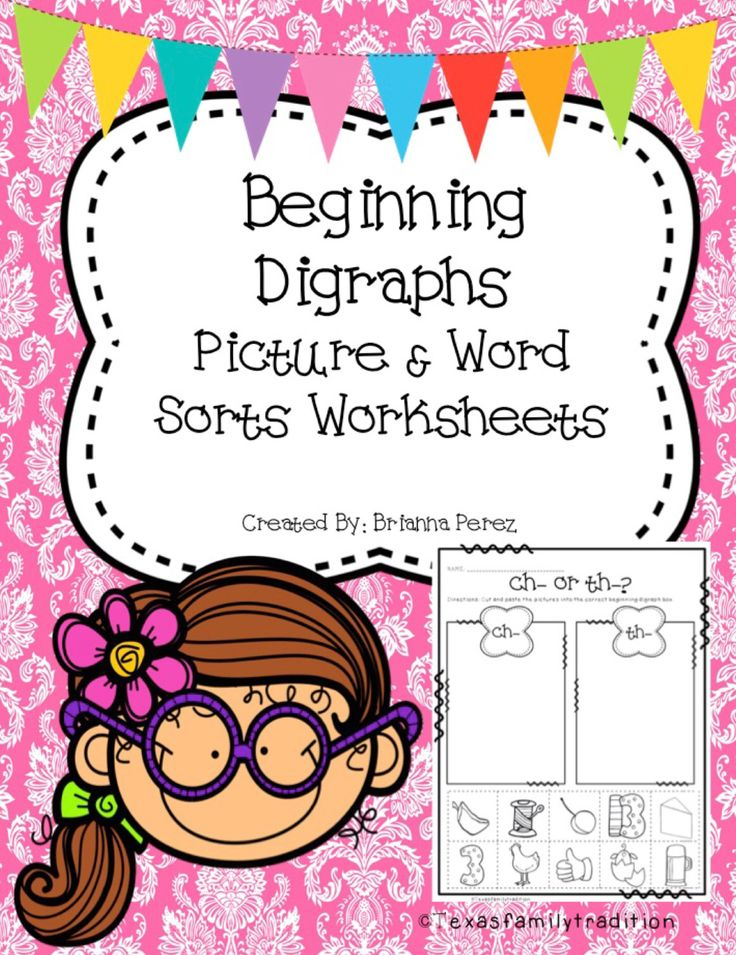 To use this resource, print out the picture and word sorts worksheets. Place them in a center or use as practice. Students will sort the words or pictures according to the beginning digraph and glue them in the correct box. Included in this package: -3 beginning digraph picture sorts -3 beginning digraph word sorts