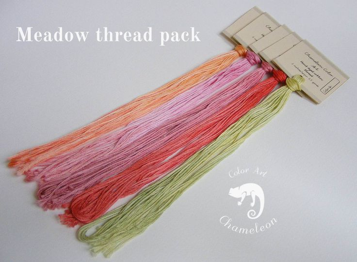 5 PCS Pure Cotton THREAD PACK Meadow - 6 metres/6.5 yards each by ChameleonColorArt on Etsy