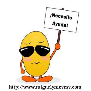 Venimos en tu ayuda http://blog.miguelynievesv.com/blog/aqui-estamos