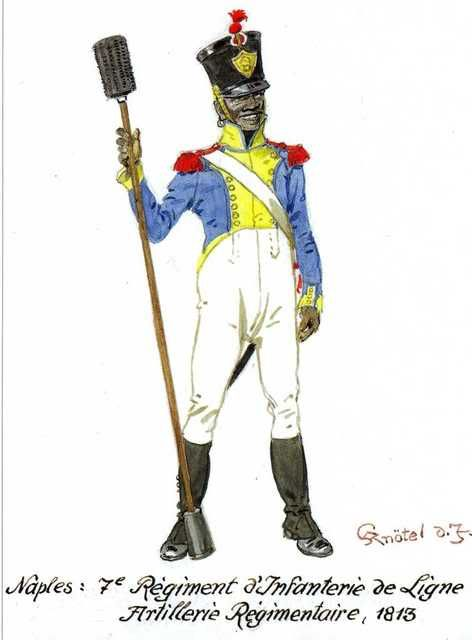 Naples: 7th Infantry Regt, Regimental Artillery 1812-13