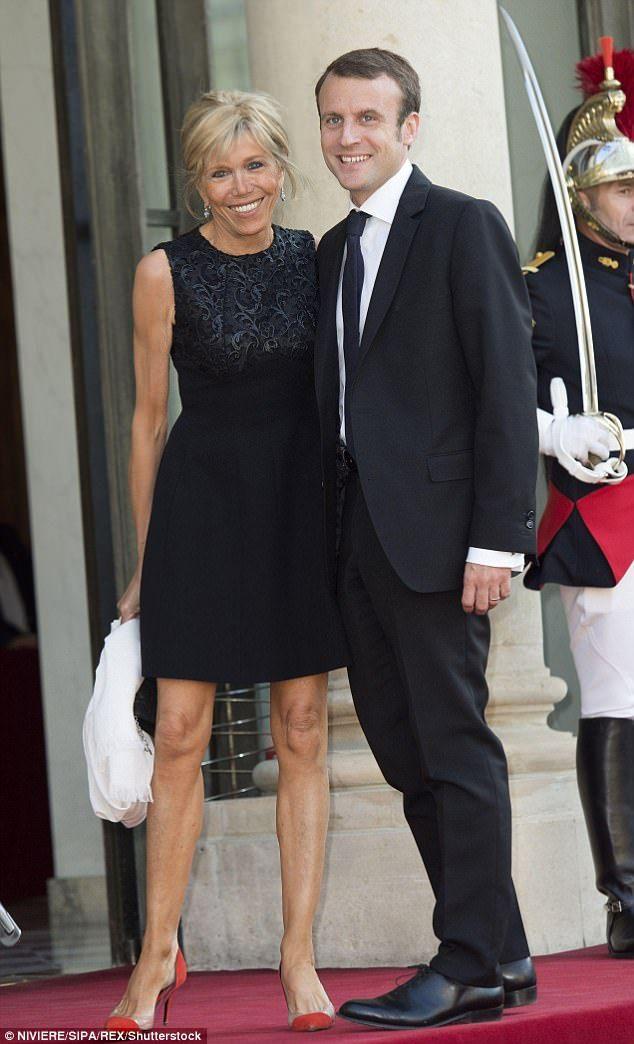 Emmanuel Macron,39 and his wife Brigitte,64