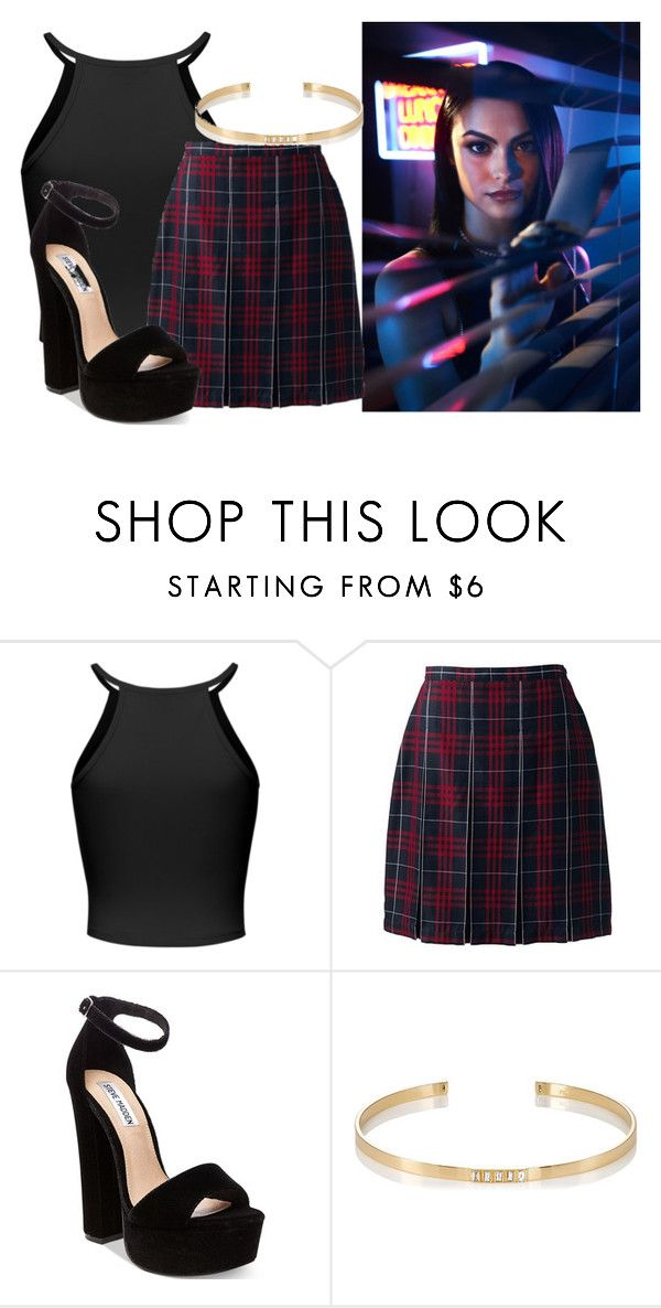 """""""Veronica (Riverdale)"""" by princessmikyrah ❤ liked on Polyvore featuring Lands' End, Steve Madden and Ileana Makri"""