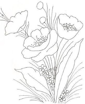 Riscos Desenhos Para Pintura em Tecido Flores - Pintura Em Tecido - Venha Aprender Pintura em Tecido