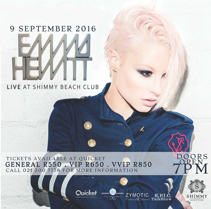 EMMA HEWITT at SHIMMY BEACH CLUB with the E.P.I.C.TalkShow Production Series!