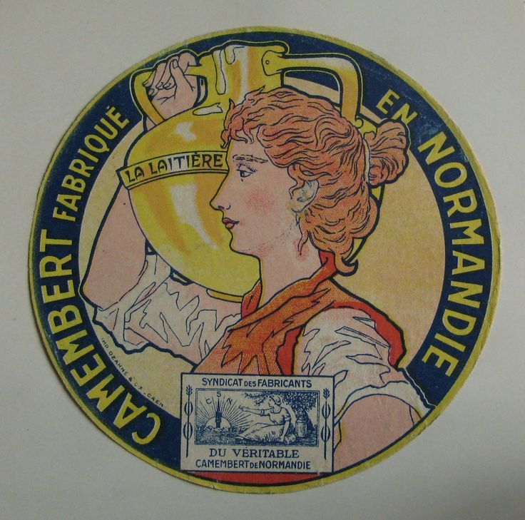 https://flic.kr/p/dJR3gv | Vintage Camembert Cheese Label. | The timespan of this collection is approx from 1930s to 1960s.