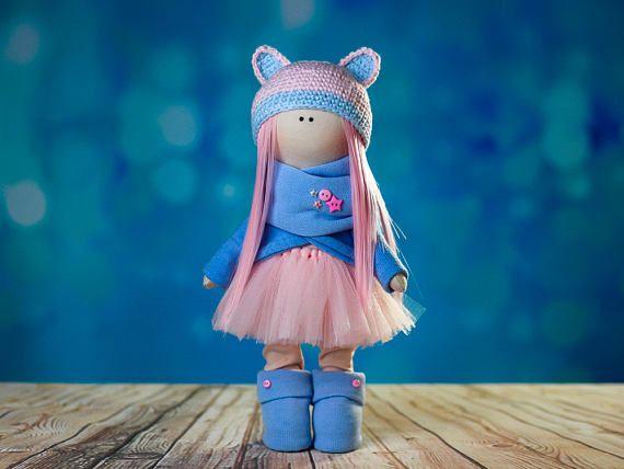 Doll tilda. Doll Vanda. Сollection Fairy doll. Textile doll.