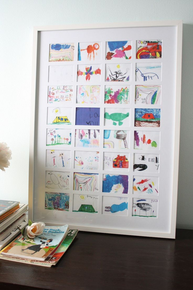 Do you have some little artists in the house? Collect their drawings as they gro…
