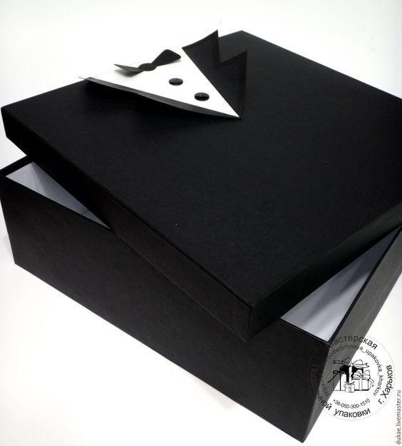 Купить Подарочная коробка для мужчины - черный, подарочная коробка, большая коробка, коробка для мужчины:
