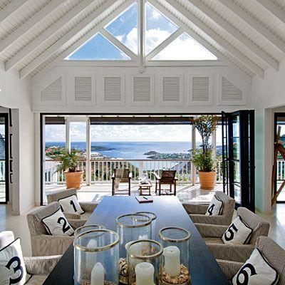 Modern Dining Room with Ocean Views < Editors' 50 Favorite Coastal Rooms - Coastal Living