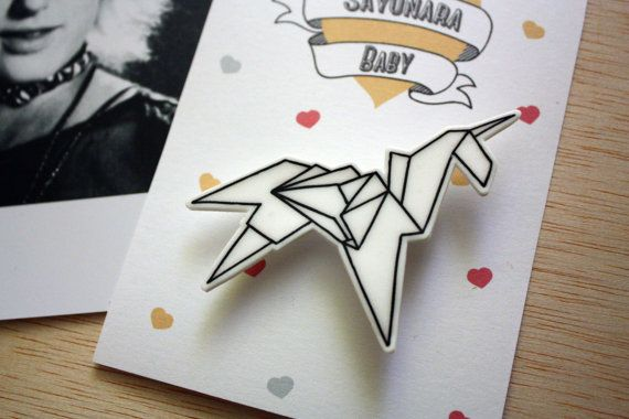 Blade Runner Origami Unicorn Pin: Broche Blade Runner Unicornio Origami Plástico Mágico