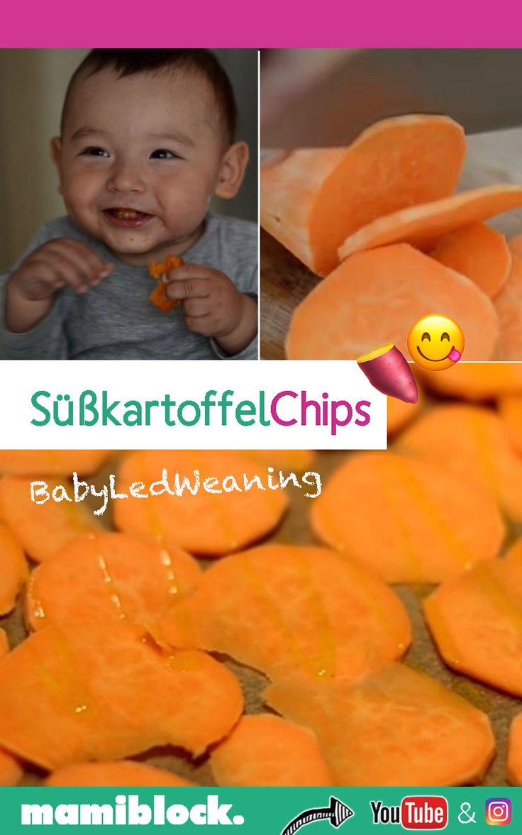 Süßkartoffelchips   Gesunde Pommes   BLW   – mamiblock – Tipps & Tricks für Eltern