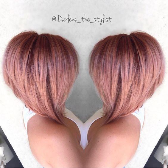 Rose Gold Hair Bob Hair Hair Products Pinterest Rose