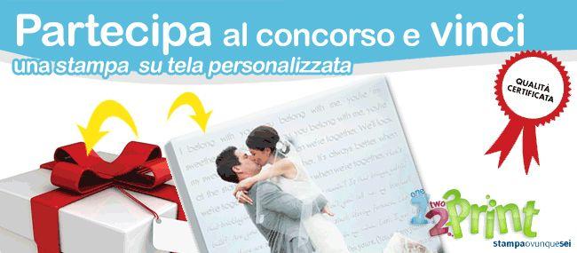 Concorso 12print e codicedisconto.com http://codicedisconto.com/pagine/concorso-12print #concorso #concorso online #premio #stampa #tela #regalo #idearegalo