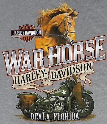 NWT Harley-Davidson 3XL T-Shirt Warhorse Ocala Florida Men's Heather Gray SS New