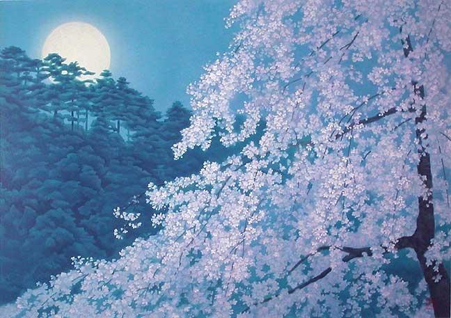 東山魁夷(宵桜)