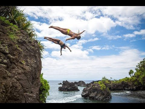 Cliff Diving Maui - #SQUADGOALS - YouTube