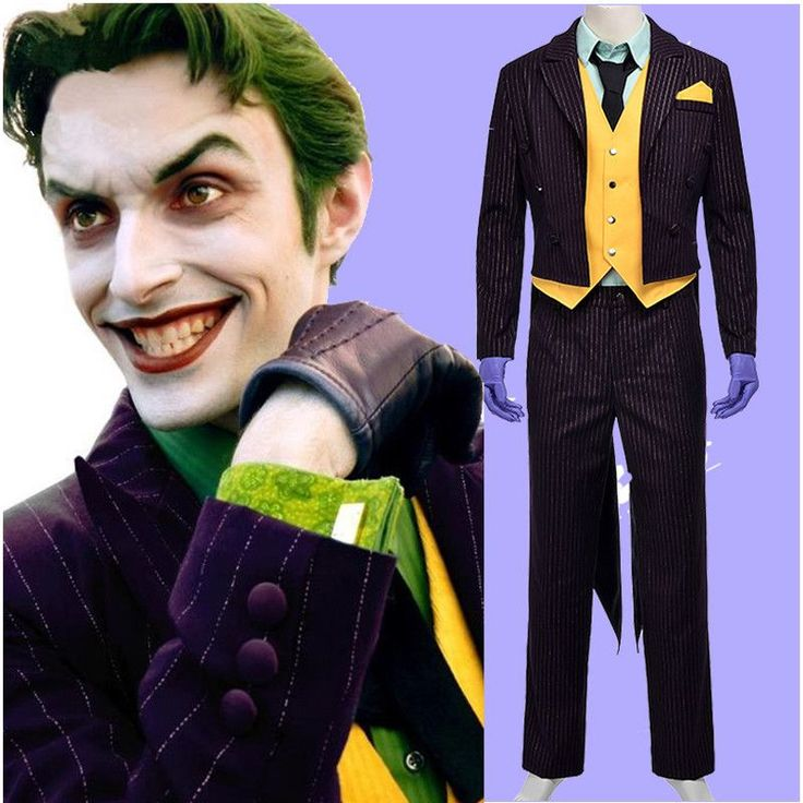 New Batman The Dark Knight Joker Cosplay Costume Adult Halloween Costumes