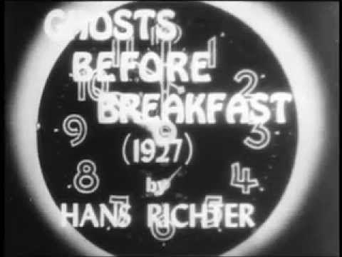Hans Richter: Ghosts before Breakfast (1927), Dada film w/sound