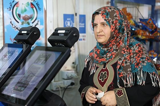 The UN World Food Programme (WFP) launched new #technology that allows #Syrian refugees in Jordan to purchase food from local shops with a scan of their eye.