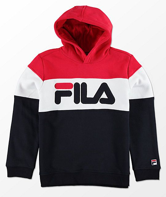FILA Boys Color Blocked Red 8aafc658688