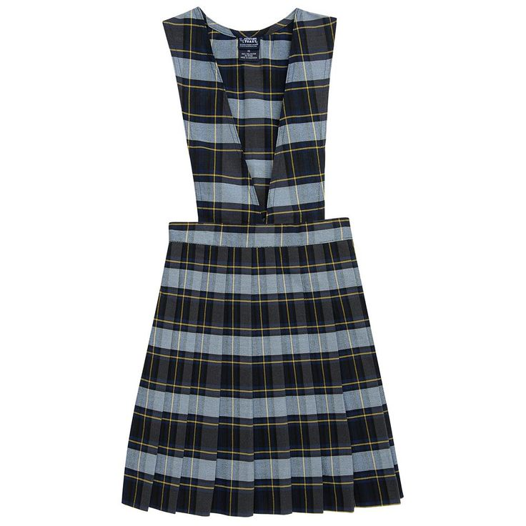 Girls 4-20 & Plus Size French Toast School Uniform Plaid Pleated Jumper, Size: 18 Plus, Blue Other