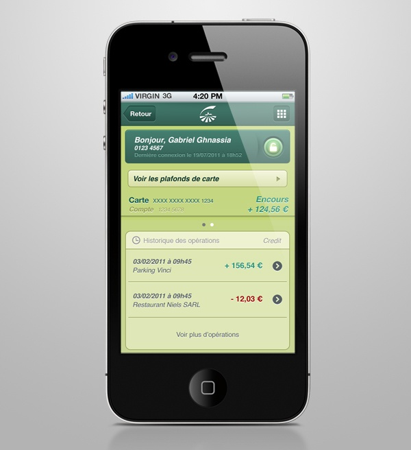 Groupama Banque App on the Behance Network