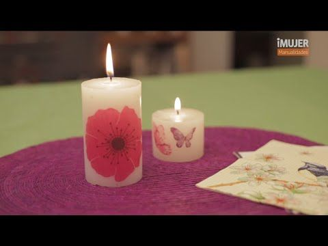 velas decoradas cmo decorar velas imujerhogar youtube