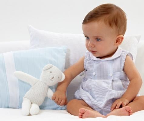 Blue Seersucker bubble--adorable (little outfit, too!!)