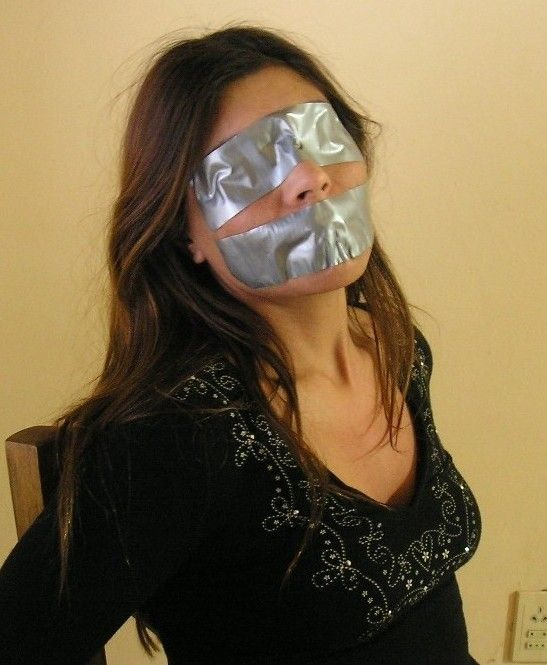 tape gagged women