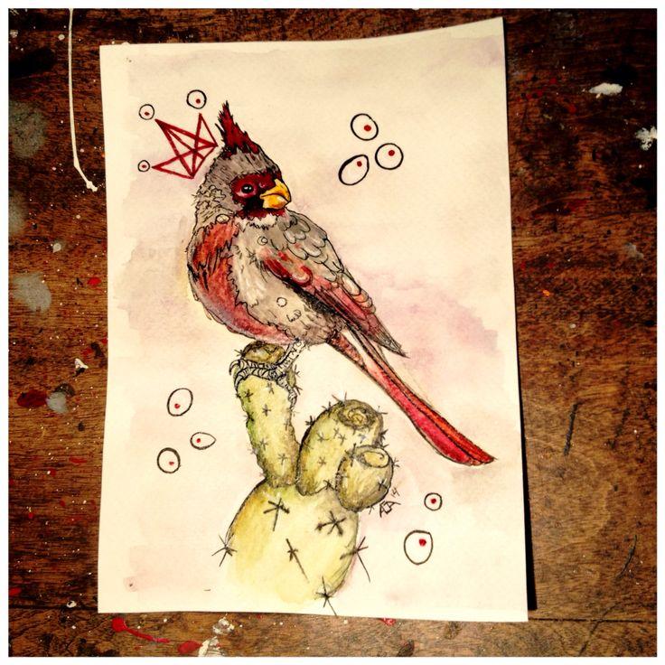Aga watercolor bird