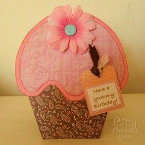 Cupcake card template