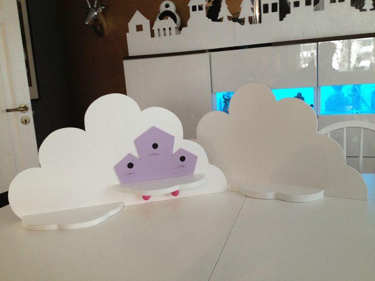 Diy cloud shelves for the kids