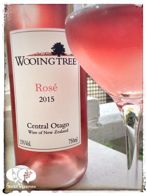 2015 Wooing Tree Rosé Central Otago New Zealand wine bottle glass social vignerons small