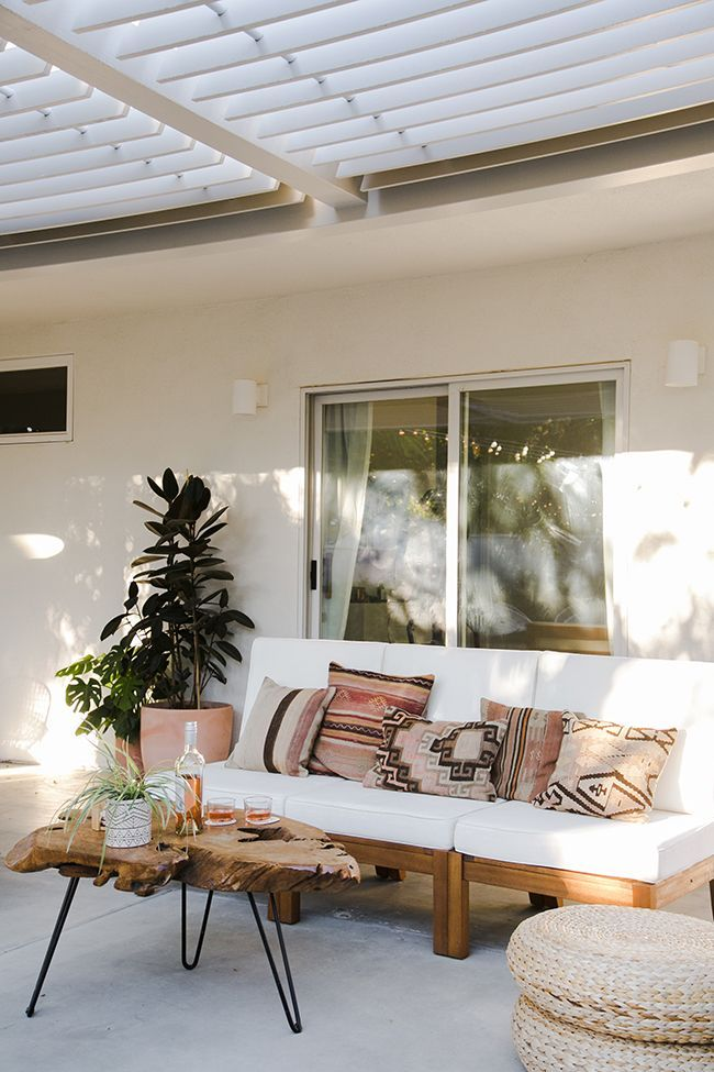 our backyard : the reveal | Outdoor Bohemian Decor | Backyard ...