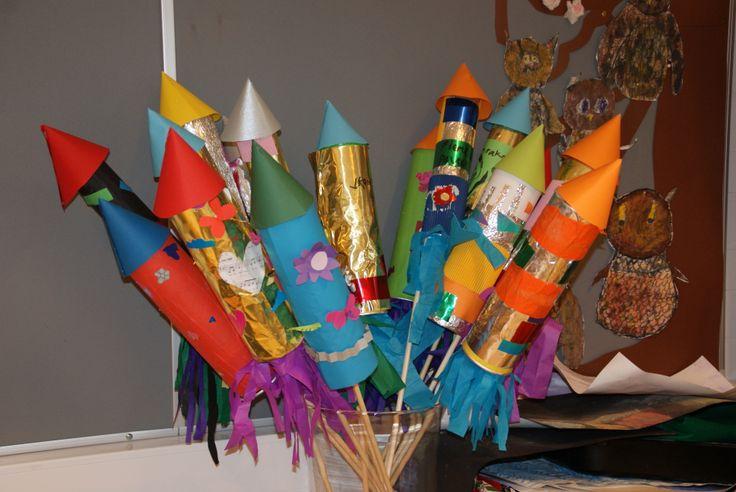 Uudenvuoden raketit askarteluna