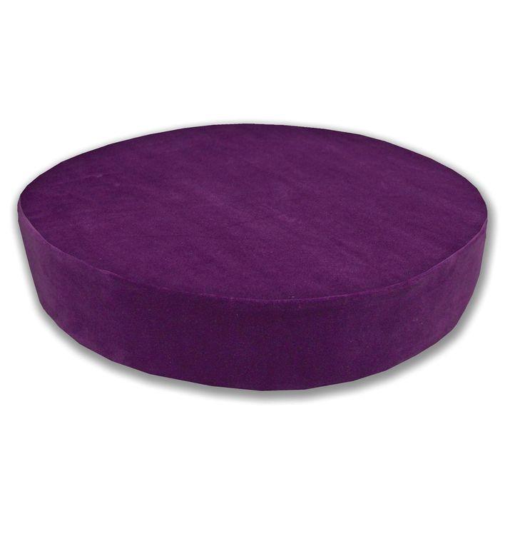 Mf51R Violet Thick Microfiber Velvet 3D Round Seat Cushion Cover Custom Size