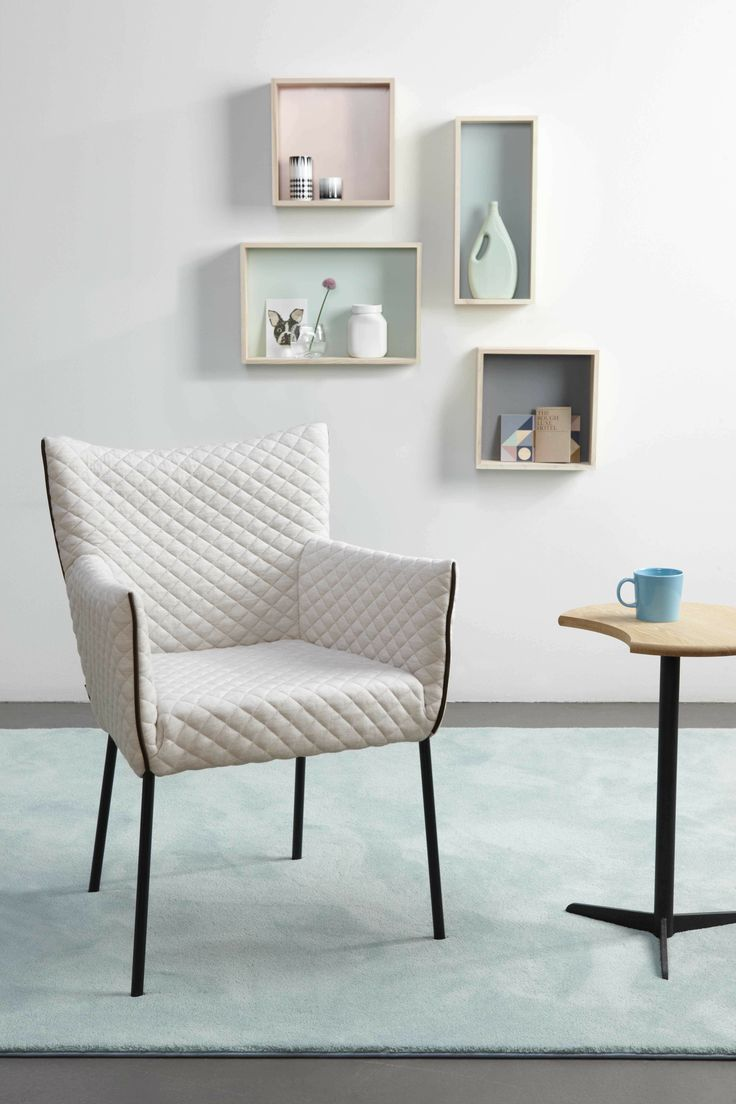 LABEL | Dining chair Mali: designed by Gerard van den Berg. Upholstered in Cross fabric (Innofa)