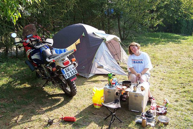 Motorcycle camping packing list for women/couples - extremely detailed
