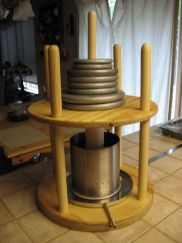home made cheese press
