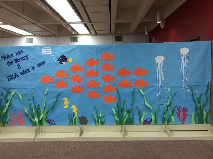 Classroom Ideas For Spring ~ Scholastic book fair bulletin board spring under the