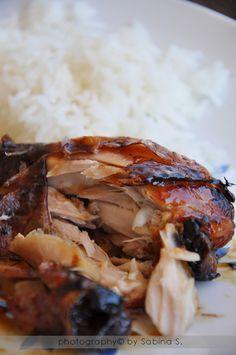 Due bionde in cucina: Glazed chicken thighs baked - Cosce di pollo glassate al forno