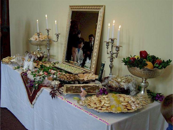 Persian christian sofreh aghd iranian wedding table setup for Persian wedding ceremony table