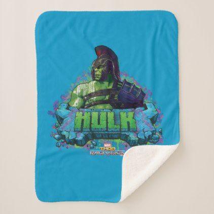 Thor: Ragnarok | Gladiator Hulk Character Graphic Sherpa Blanket - diy cyo personalize design idea new special custom
