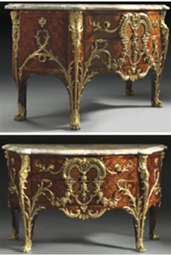 IMPORTANTE COMMODE D'EPOQUE LOUIS XV CHARLES CRESSENT, VERS 1730 Price Realised EUR 994,600 USD 1,363,334