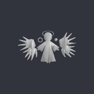 angel free 3D model tree-topper-export.stl vertices - 2202 polygons - 4440 See it in 3D: https://www.yobi3d.com/v/MS6LeK6khZ/tree-topper-export.stl